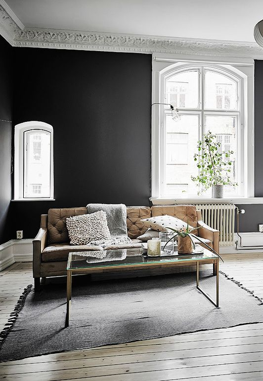 Best Black Walls And Details Images On Pinterest Home