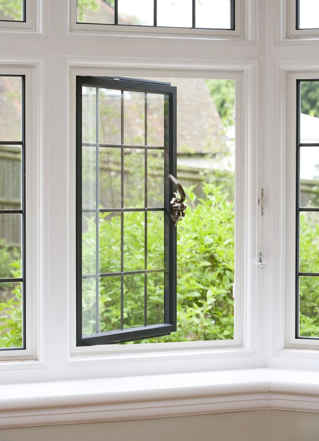 Clement EB24 multi point locking, bespoke steel windows - a classic look with a modern specification.