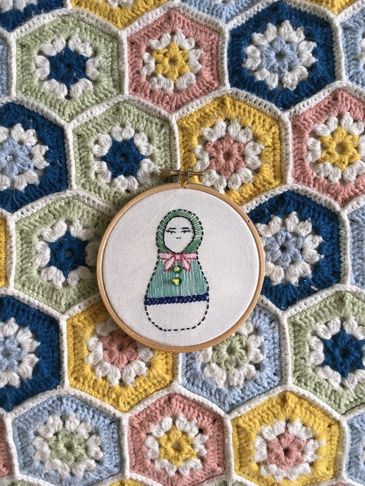 Russian Doll Embroidery Hoop by OffthebeatentrackCo on Etsy