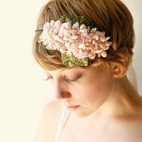 短いヘア向けカチューシャ *ウェディング 花飾りのヘッドアクセ 一覧*