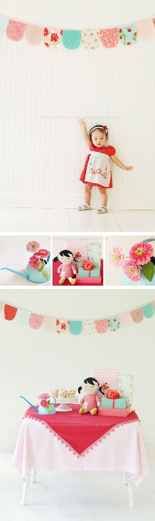 Great for party decorations! **Easy tablecloth too :) I'm seeing my little girl's birthday party already....