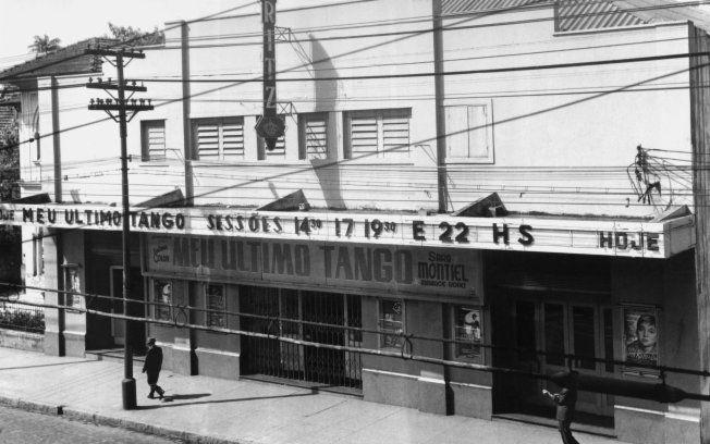 Cine Ritz-Consolação passando 'Meu último tango' com Sarita Montiel em 1961. Foi o último filme passado ali antes de ser fechado e alugado à TV Tupi, que o transformou em teatro, onde se apresentaram Eartha Kitt, Della Reese, Aurelio Fierro e outros cartazes internacionais. O Cine Ritz do centro tinha sido demolido ainda nos anos 1950s para dar lugar ao Cine Rivoli.