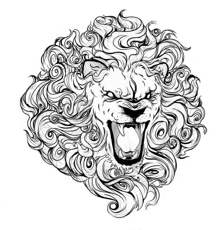 Best 25 Roaring Lion Drawing Ideas