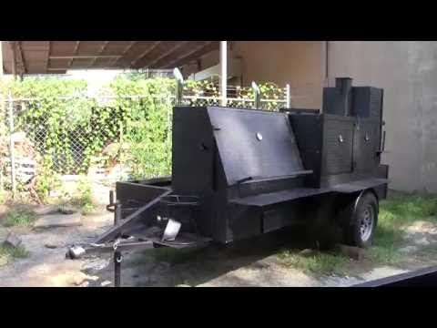 Mega HogZilla Smoker Catering Food Truck Business Grill Football Tailgate FOR SALE Smoker BBQ Pit - YouTube