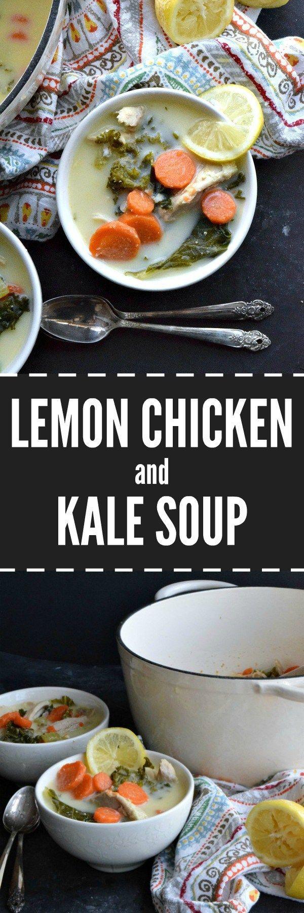 Lemon Chicken and Kale Soup