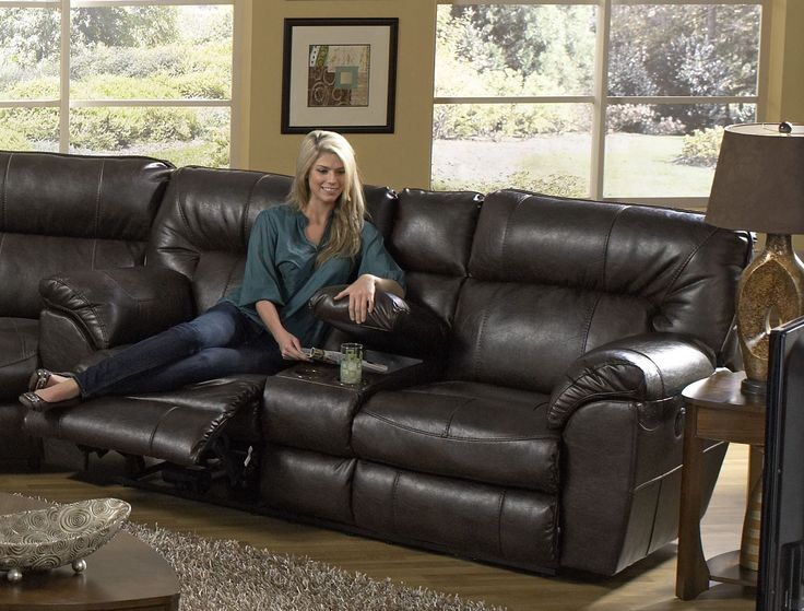 Nolan Godiva Power Reclining Loveseat with Console