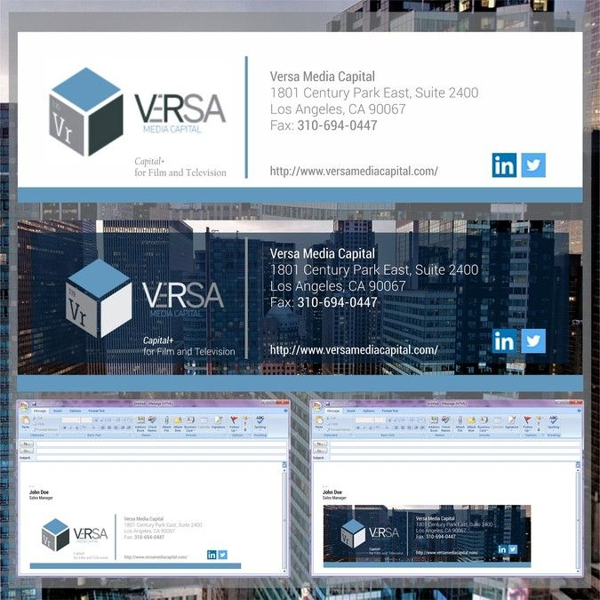 Email signature template for film and television finance company by Future is…