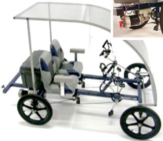 2 Person SportPed e Two with PD750 Electric Motor