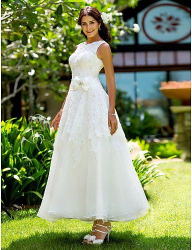 Lanting Bride® A-Linie / Prinzessin Extraklein / Übergrößen Hochzeitskleid - Schick & Modern / Elegant & Luxuriös / Hochzeitsempfang 467030 2017 – €127.39