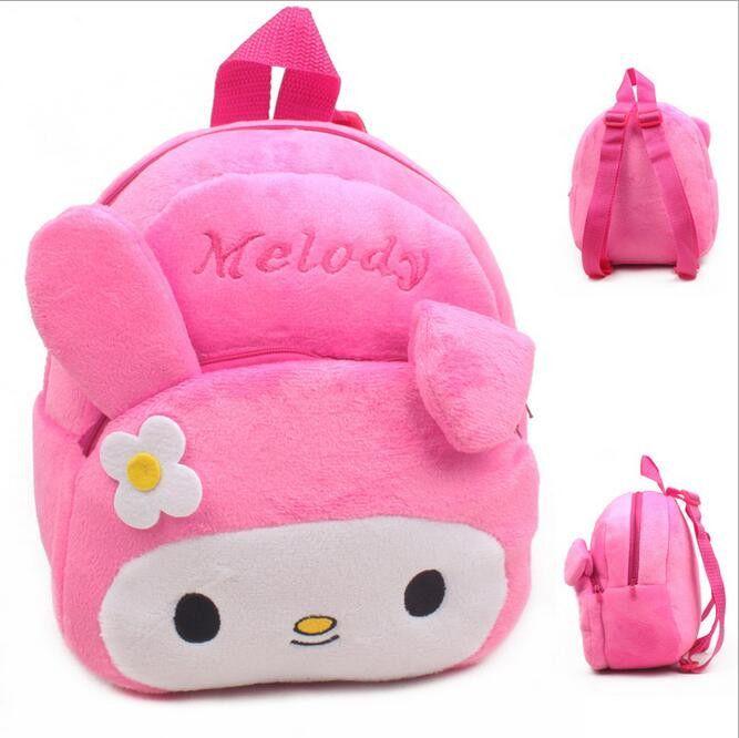 4 Years Primary School Children School Bags for Girl Kids Backpack for School Gril Flannel Material Rabbit Shape Boy School Bag