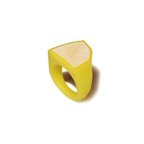 lime green FRAME Ring / size 12,5 - monopolka