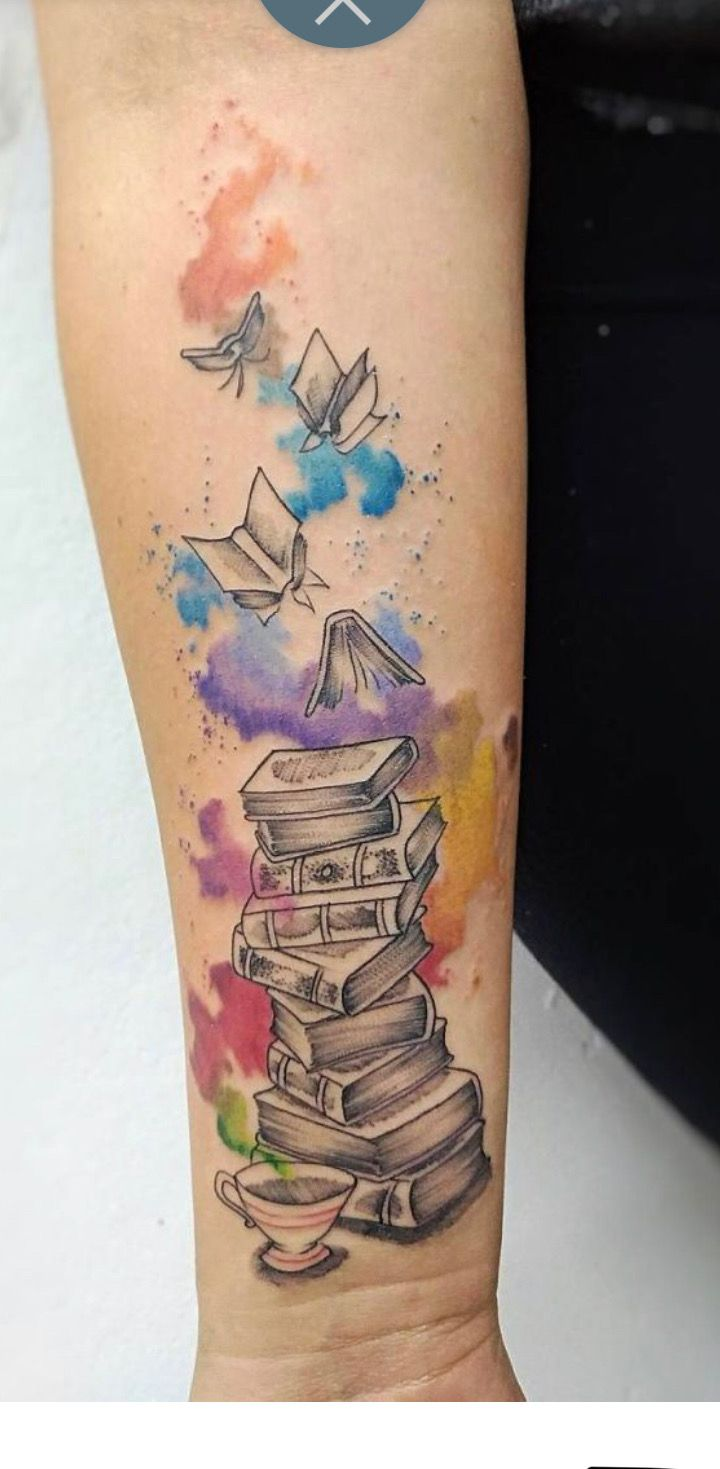 Book Lover Tattoo Bookish Tattoos Book Tattoo Creative Tattoos