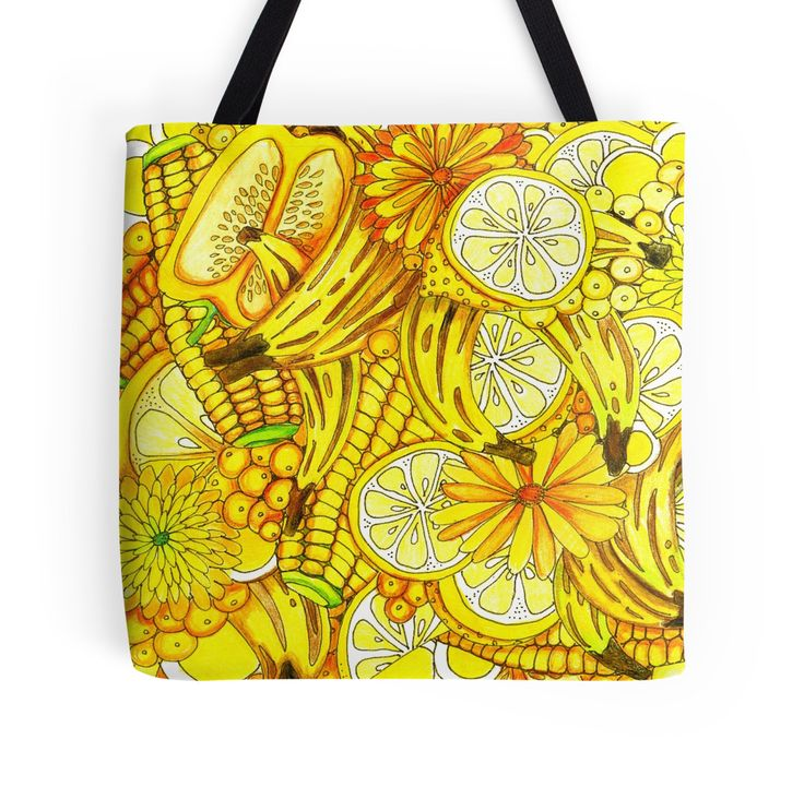 Great shopping bags! 'A Corny Coldplay Thanksgiving — It Was All Yellow...' by Cherie Roe Dirksen  #totes #bags #yellow
