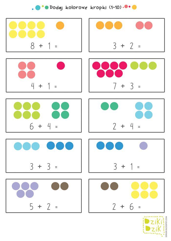 drukowane zadania matematyczne dla dzieci | free printable maths worksheets