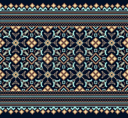 Vector illustration de la populaire ukrainien ornement seamless pattern Banque…