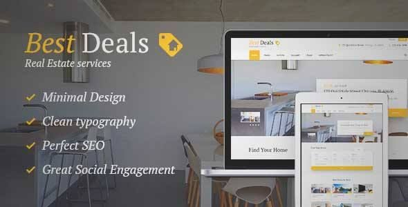 Download and review of Best Deals - Property Sales & Rental Theme, one of the best Themeforest Real Estate themes