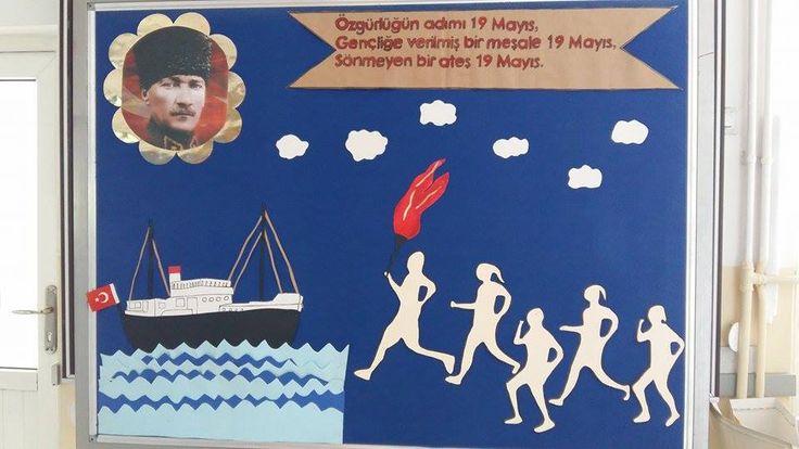 Buradaki resimlerden faydalanarak hazırladığım 19 Mayıs Atatürk'ü Anma Gençlik ve Spor Bayramı için pano çalışması. Resimlerin sahiplerine teşekkür ederim.