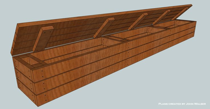 How to build a deck storage bench.