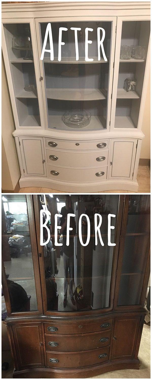 Check out this #DIY #FleaMarket flip of an old cupboard makeover #HomeDecorIdeas #RusticDecor @istandarddesign