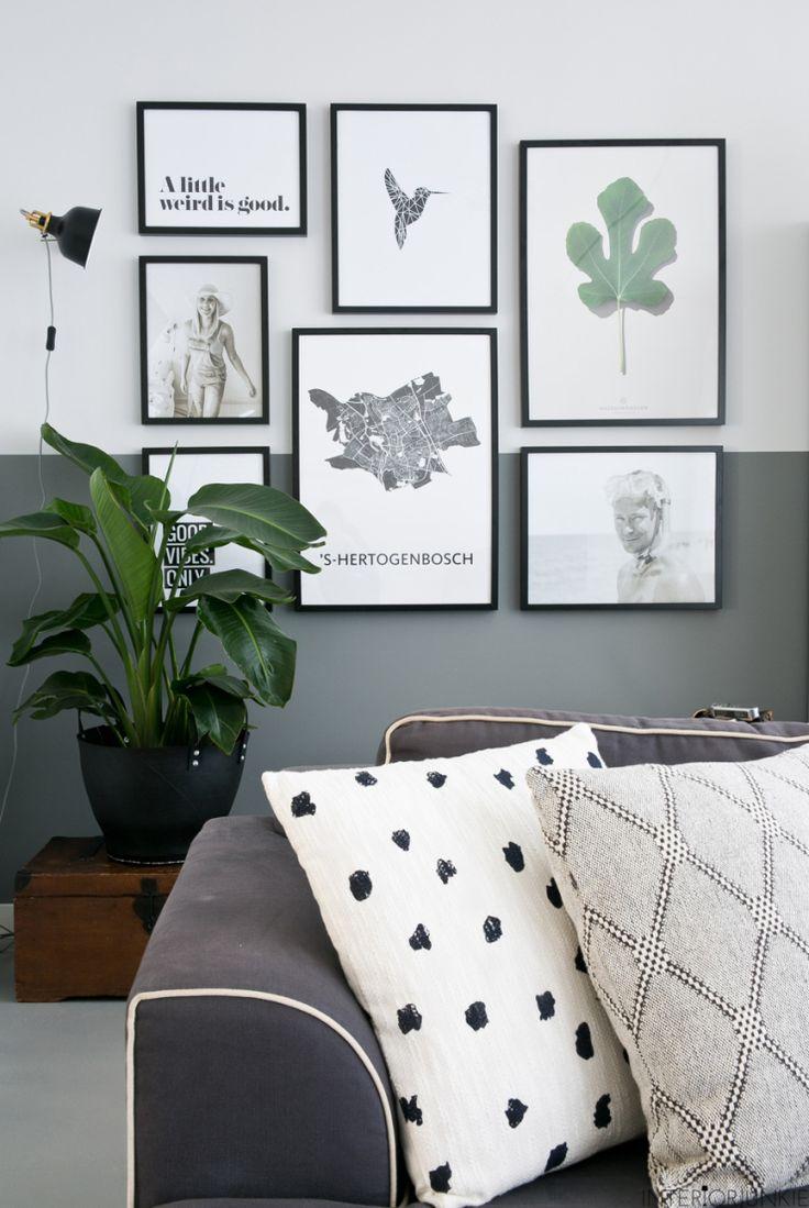 Wand inspiratie | lambrisering mbv verf