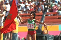 Nawal el Moutawakil Is an Olympic hurdler who won a golden medal in Los Angeles in 1984. She became the first African Muslim woman to win gold.
