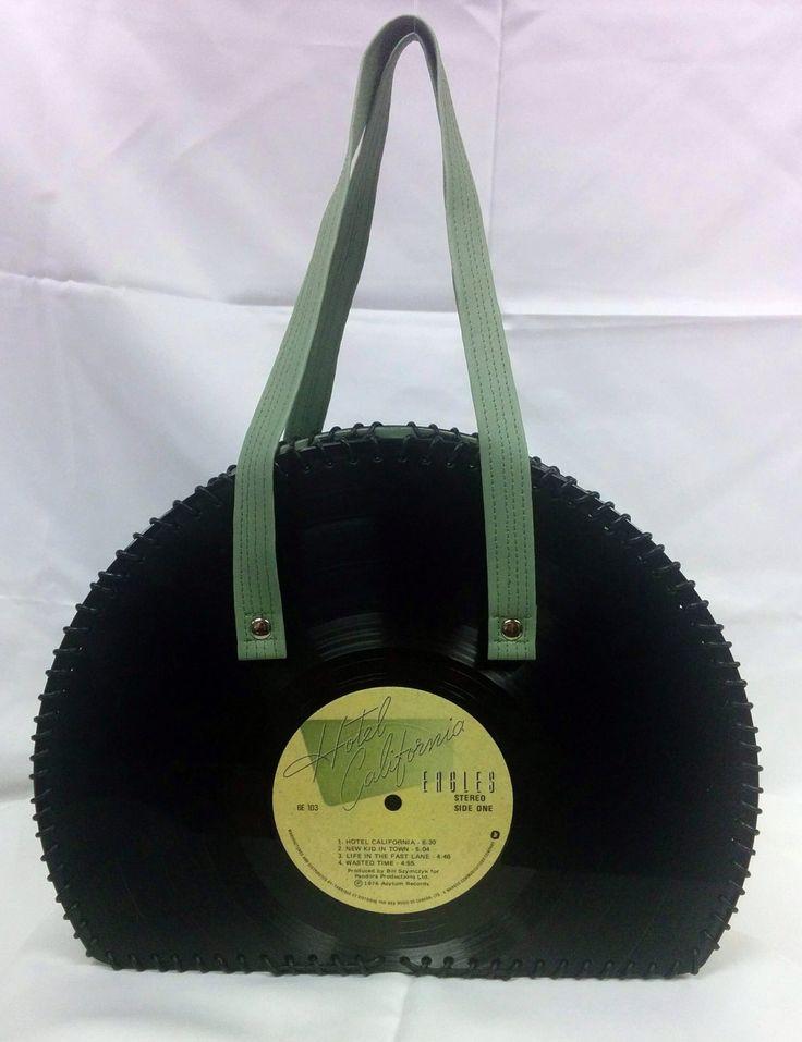 Eagles Vinyl Record Handbag by FunkyVinylArt on Etsy