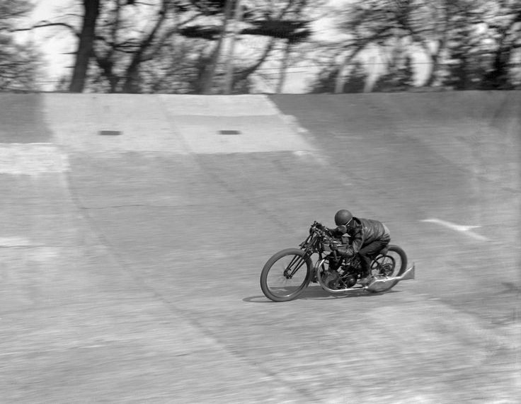 Bert Denly, racing motor cyclist,on his Norton 1927 Model 18 500 cc ohv at Brooklands. Ref #: PA.7663850  Date: 01/05/1928