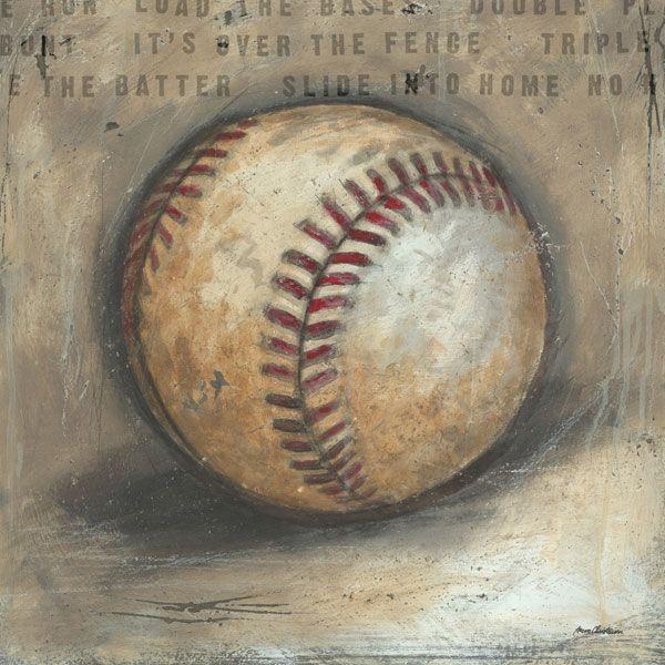 Be the Ball Baseball Canvas Wall Art