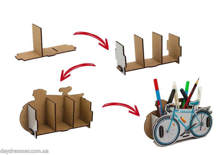 Органайзер для ручек и карандашей Велосипед – Bicycle Box, байсикл бокс, фирменная упаковка, необычный настольный органайзер, оригинальный подарок, подставка для ручек, магазин дейдример, daydreamer
