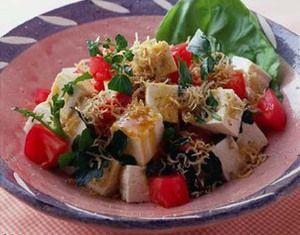 豆腐としらす干しのサラダ