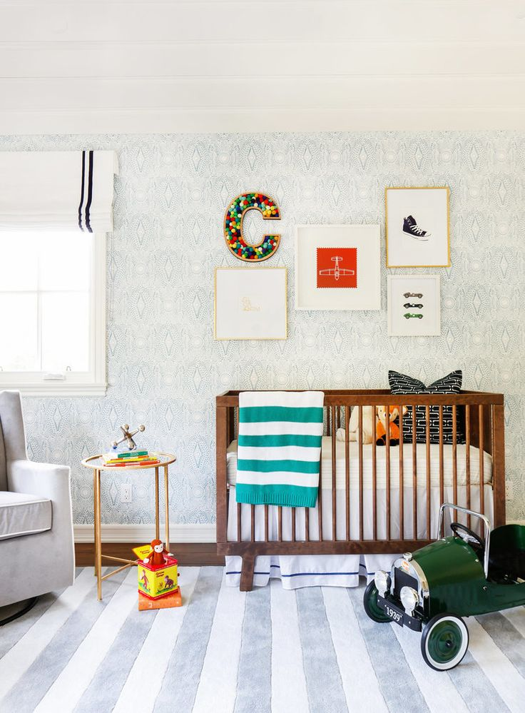 Get all the design details from this charming nursery by browsing through the gallery, and check out the nursery reveal video below.