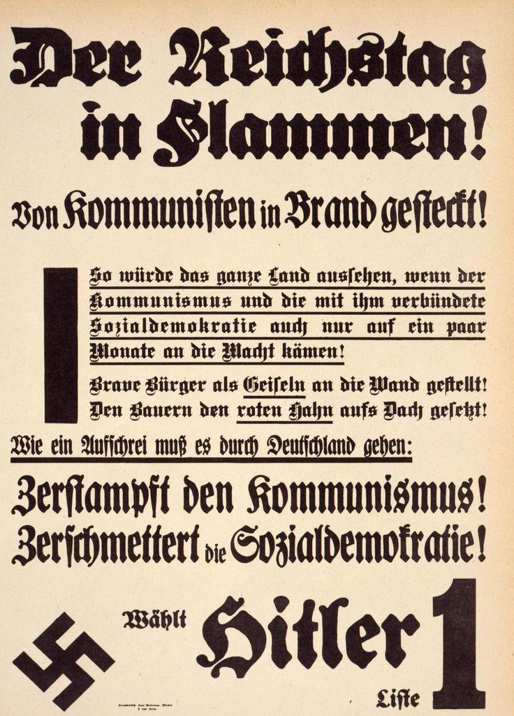 Flugblatt der NSDAP zur Reichstagswahl Berlin den 5ten Maerz 1933