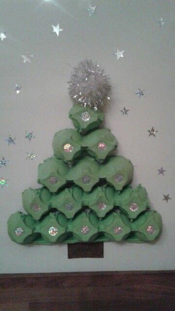 Sapin de Noël boîtes à oeufs