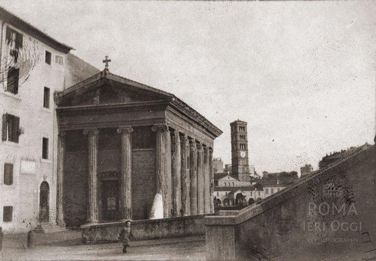 Via di Ponte Rotto (Davenport, 1903) Con il Tempio di Portunno riconvertito a chiesa nazionale degli armeni, Sullo sfondo S. M. in Cosmedin.