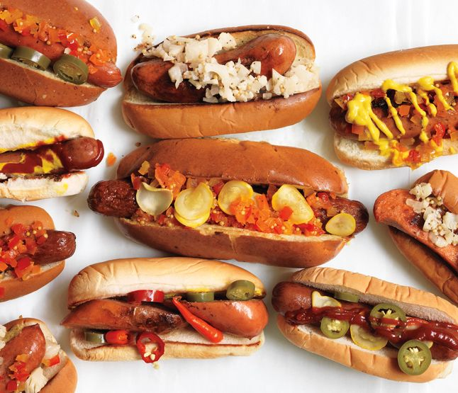 Gourmet hot dogs from Bon Appetit