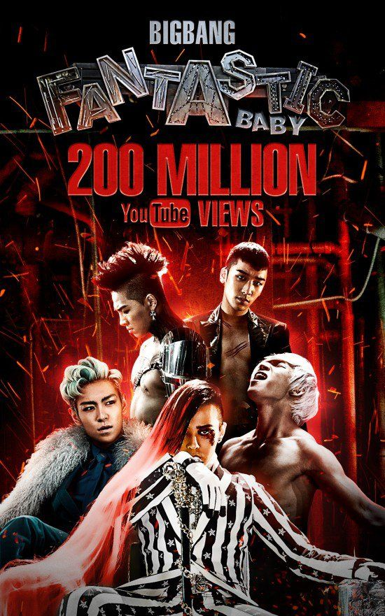 Big Bang's 'Fantastic Baby' is the first K-Pop group's MV to reach 200 million views on YouTube! | allkpop