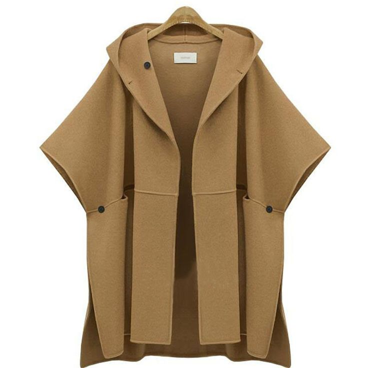 Nice Top-Quality Women's Fashion Loose Wool Cloak Winter Coat 3 Colors XL-5XL
