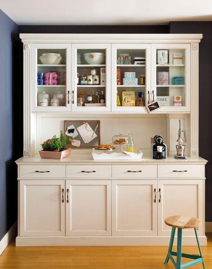 Las 25 mejores ideas sobre alacena blanca en pinterest aparador pintado vitrina y cambio de - Mueble despensa cocina ...