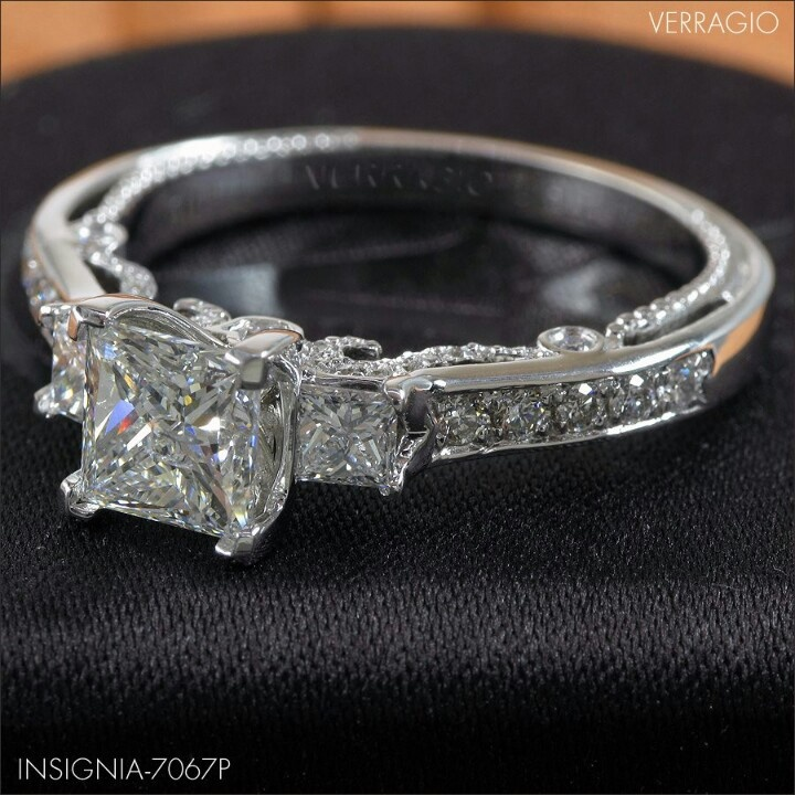 Silver Ring With Diamond Insignia Inside
