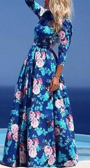 Женственные платья макси с цветочным принтом 6