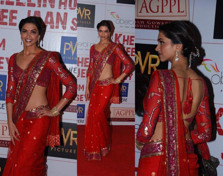 Deepika Padukone. I love this saree!