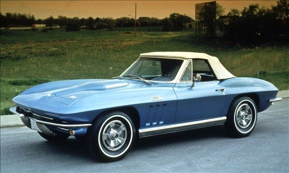 1965 Corvette Stingray. The C2 generation of the Corvette, which ran from 1963 to 1967, is widely considered the most beautiful in the car's 61-year run. In 1965, Chevrolet pushed the Corvette's performance envelope by offering the first big-block V8 engine.