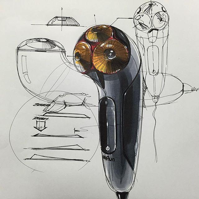 전기면도기 스케치 & 디자인 Electric Shaver Sketch & Design www.skeren.co.kr…
