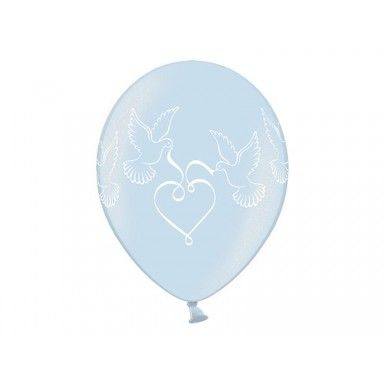 Pack of Light Blue Love Doves Wedding Balloons