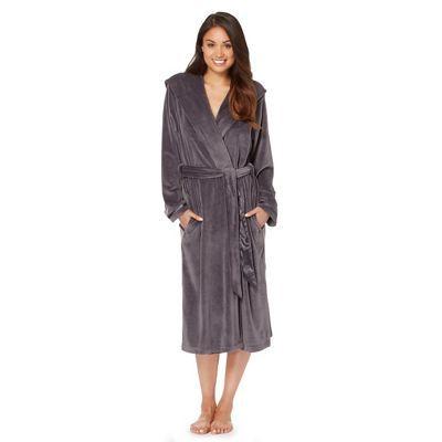 B by Ted Baker Dark grey moleskin long dressing gown- | Debenhams