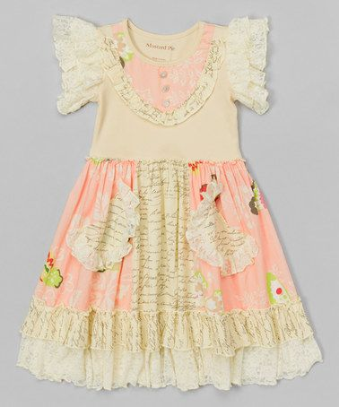 This Petal Pink Scrappy Ramona Dress - Infant, Toddler & Girls by Mustard Pie is perfect! #zulilyfinds