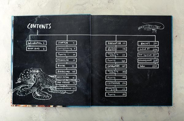 Book Layout Design sydney seafood school contents