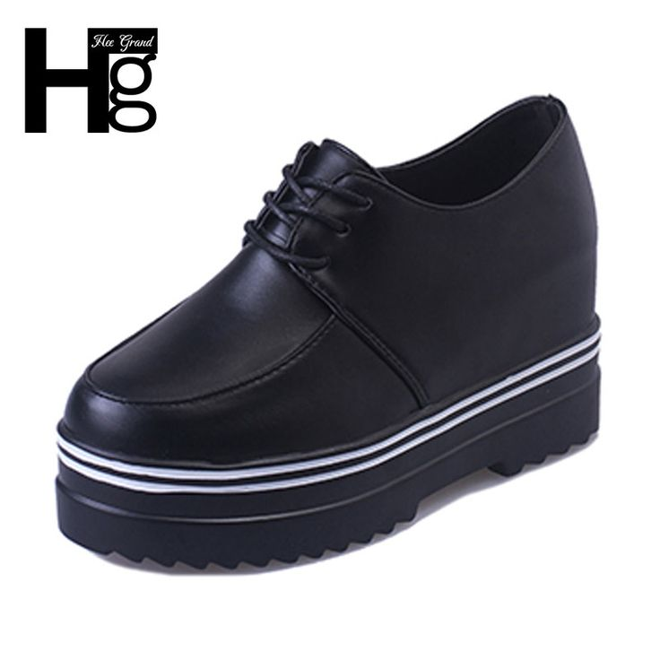 HEE GRAND Women's Shoes 2017 Autumn British Style Height-increasing Casual Shoe For Woman Size 35-39 XWD4670