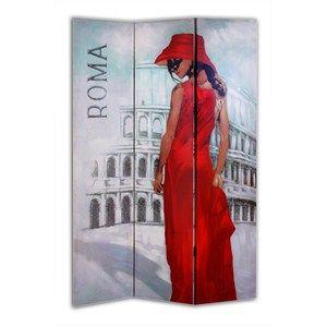 Roma temalı Giz Home  Kırmızılı Kadın paravan ayağınıza gelsin.