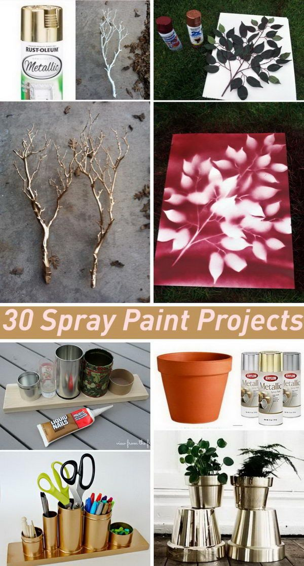 Amazing Spray Paint Project Ideas  to Beautify Your Home.
